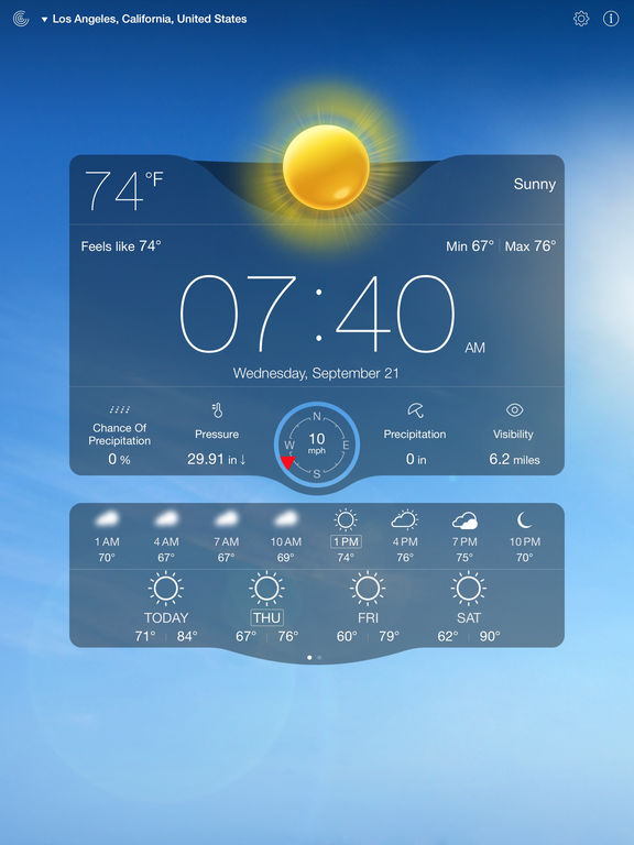 Screenshot #3 for Weather Live Free - Weather Forecast & Alerts
