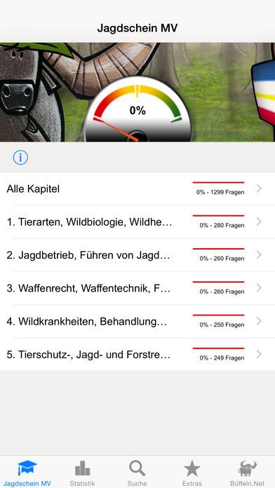 Jagdschein Mecklenburg-Vorpommern iPhone Screenshot 1
