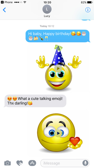 Talking Emoji & Speaking Emoticons Icons Pro screenshot 1