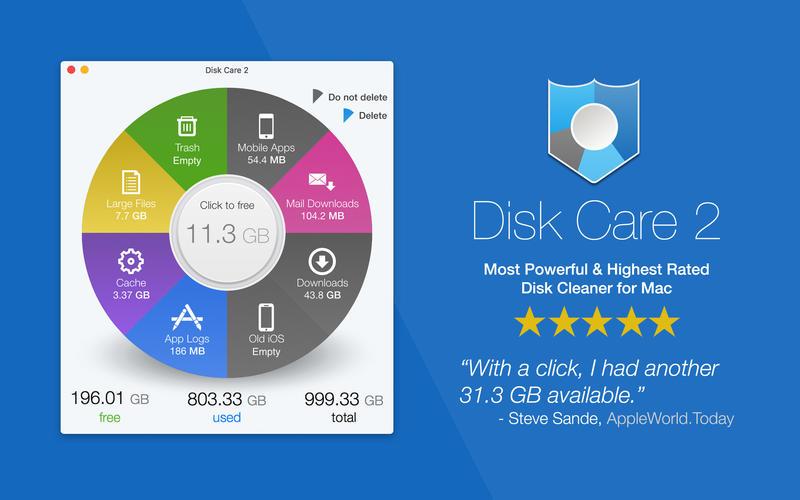 Disk Care for Mac 2.0 破解版 – 磁盘空间维护工具-爱情守望者