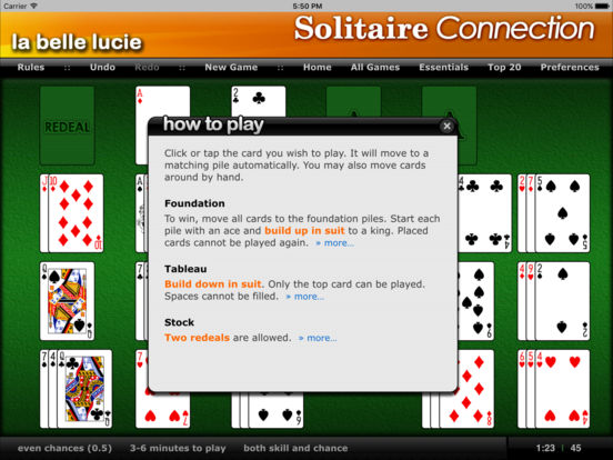 La Belle Lucie - Solitaire Connection iPad Screenshot 1