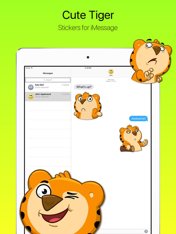 Милый Маленький Тигренок Стикеры Скриншоты4