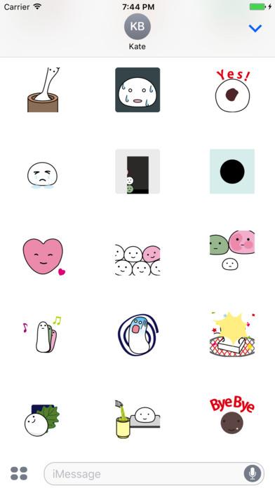 Dumplings Emoji Animation Stickers screenshot 2