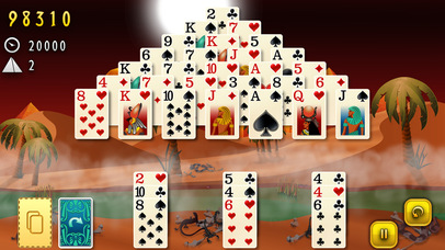 Screenshot 2 Pyramid Solitaire — Mummys Curse