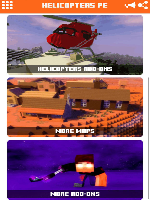 Helicopter Addons for Minecraft Pocket Edition PE Скриншоты8