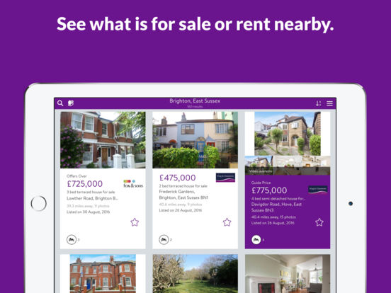 Zoopla Property Search iPad Screenshot 1