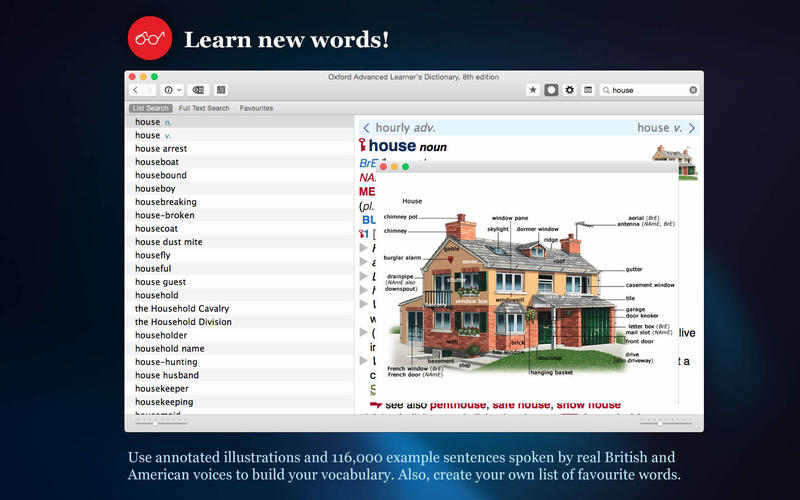 Oxford Advanced Learner's Dictionary, 8th edition for Mac