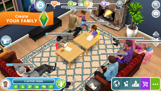the sims freeplay on the app store. Black Bedroom Furniture Sets. Home Design Ideas
