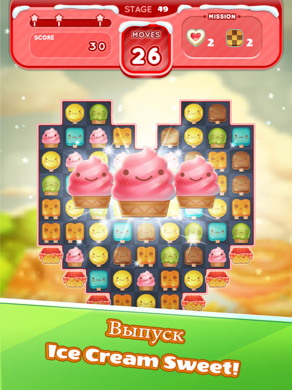 Скачать Ice Cream Mania : Match 3 Puzzle