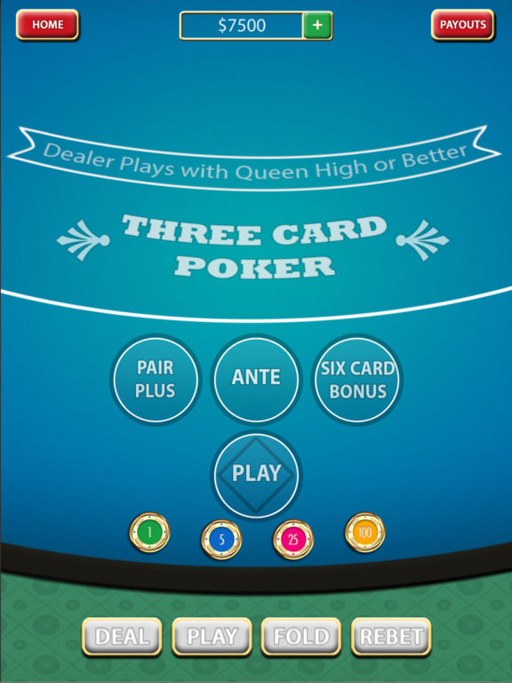 How to play 3 card poker with 6 card bonus