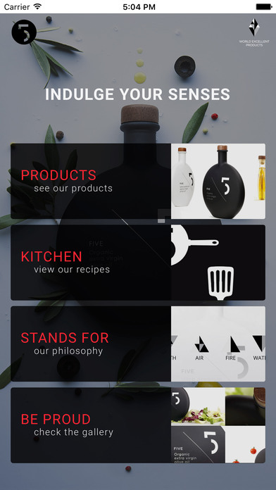 Five Olive Oil screenshot