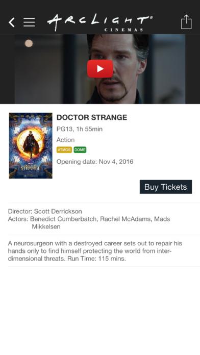 Arclight Cinemas iPhone Screenshot 4