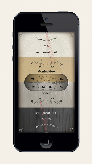 Analog weather station on the app store for Application iphone temperature interieur