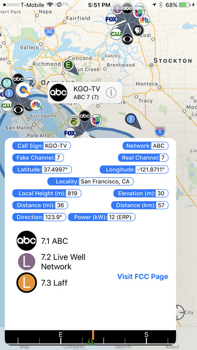 TV Towers USA iPhone Screenshot 3