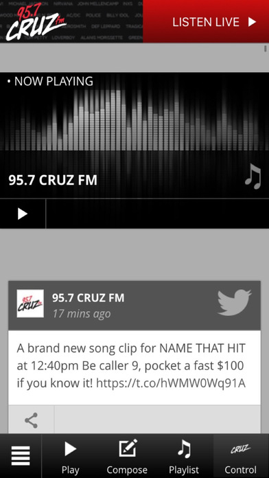 95.7 The Sound iPhone Screenshot 1