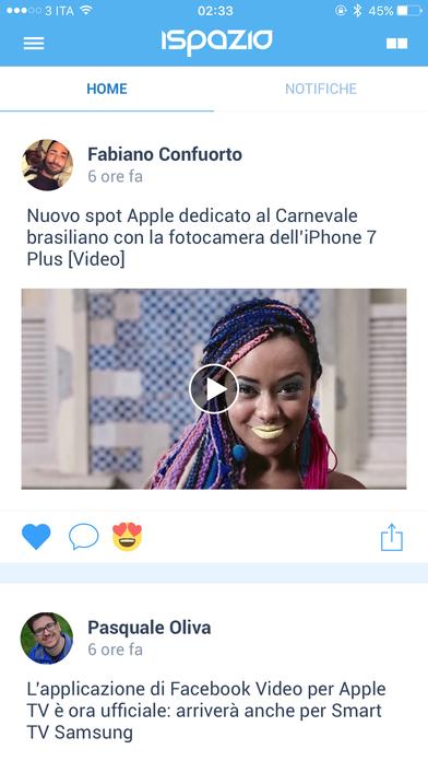 iSpazio Push App iPhone Screenshot 1