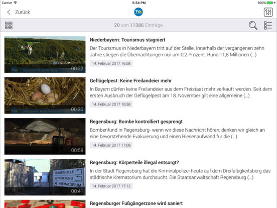 TVA Ostbayern iPad Screenshot 3
