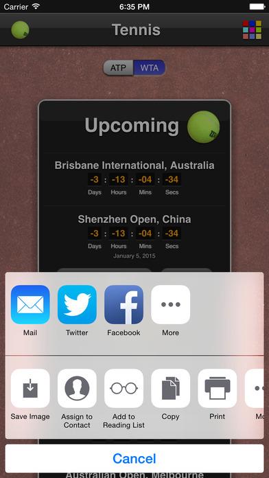 Tennis Matches iPhone Screenshot 5
