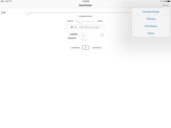Slow Down Music Player iPad Screenshot 2