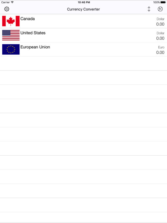 Currency Converter (One To Many) Screenshots