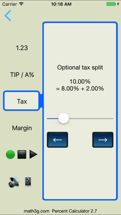 Percent Calculator iPhone Screenshot 4