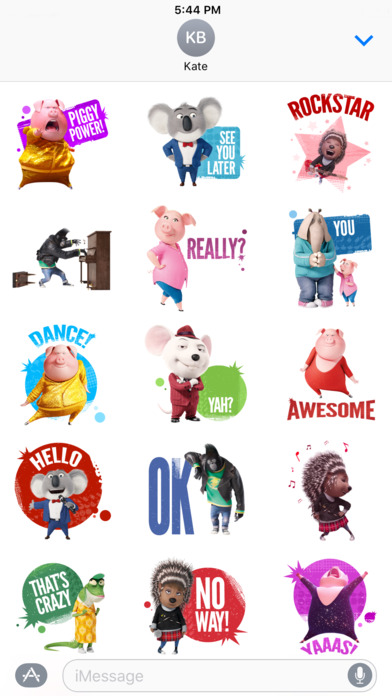 app shopper sing movie stickers stickers