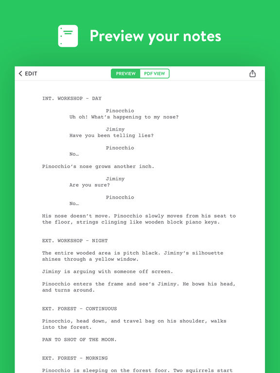 Untitled - Screenwriting Notebook screenshot