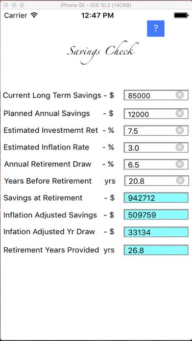 Savings Check iPhone Screenshot 1