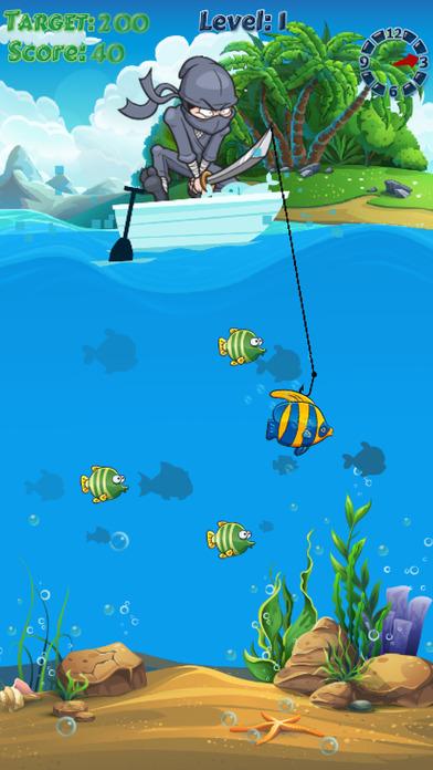Screenshot 3 Ninja Fishing ~ Ловить рыбу Игры Рыбалка
