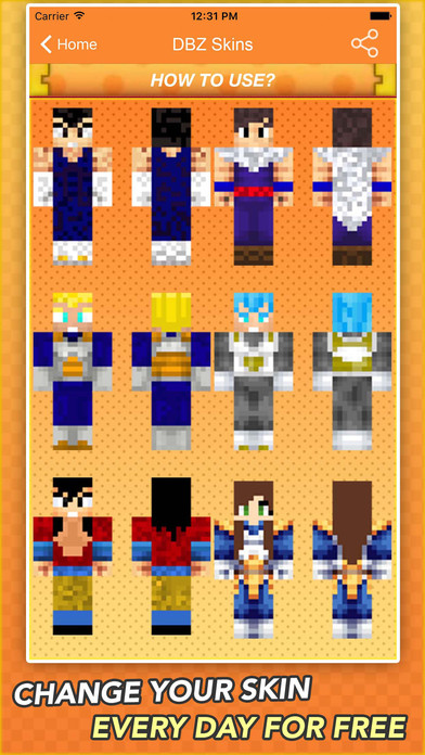 App Shopper Super Skins For Dragon Ball Z Fans For Minecraft Shopping - Skin para minecraft pe goku