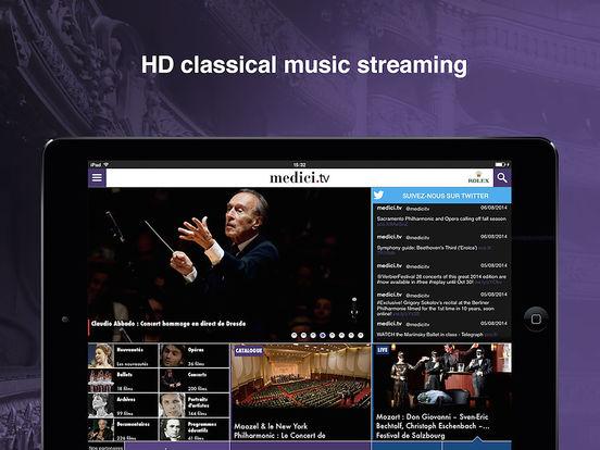 medici.tv iPad Screenshot 1