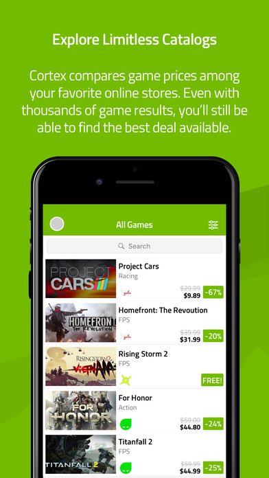 Razer Cortex: Deals iPhone Screenshot 1