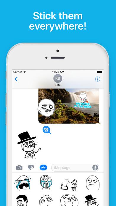 Ragemotion - Animated Meme Rage Faces for iMessage iPhone Screenshot 3