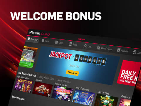 Betfair Casino & Roulette screenshot 1