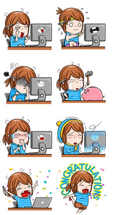 Freelancer Girl Stickers screenshot 4