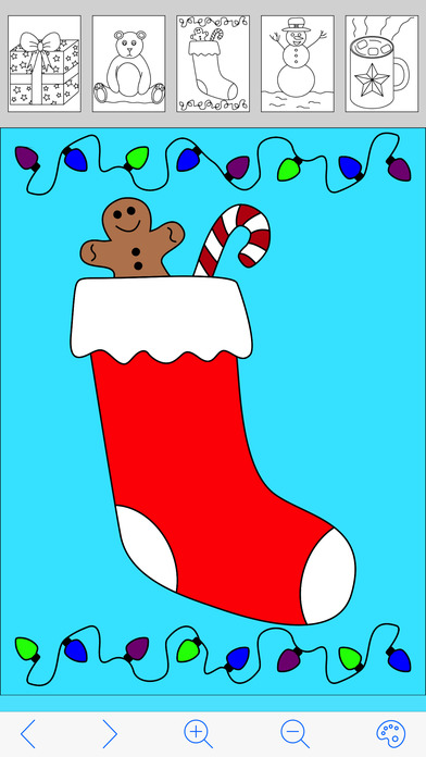 My Holiday Coloring Book iPhone Screenshot 3