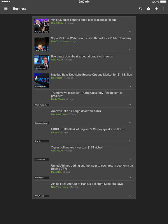 Screenshots of Google News & Weather for iPad
