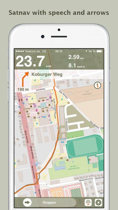 Naviki – das Fahrrad-Navi iPhone Screenshot 3