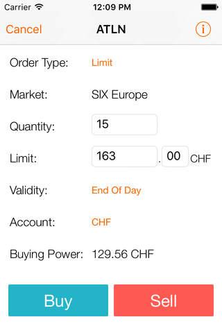 Swissquote Mobile Trading screenshot 3