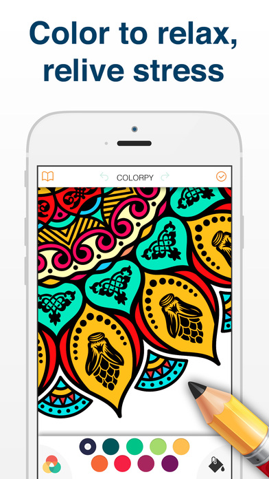 Mandala coloring book pages for adults Apps free for iPhone/iPad screenshot