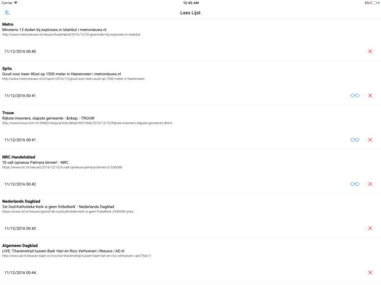 KRANTEN en TIJDSCHRIFTEN iPad Screenshot 3