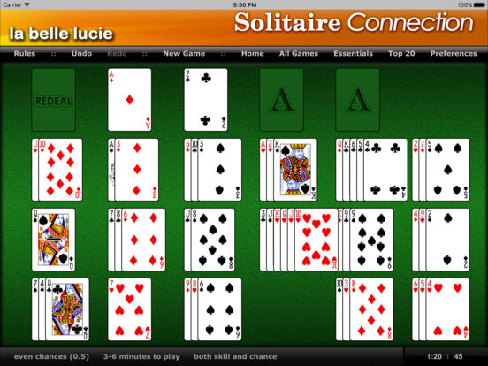 La Belle Lucie - Solitaire Connection iPad Screenshot 2