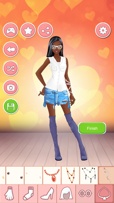 Romantic dating night dress up games