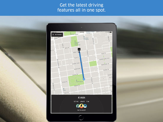 Screenshots of Uber Driver for iPad