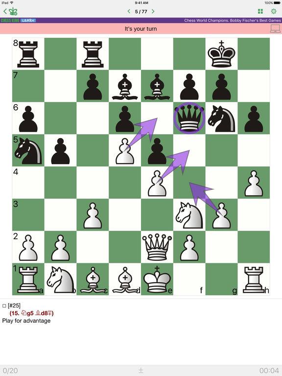 Bobby Fischer. Chess Championscreeshot 1