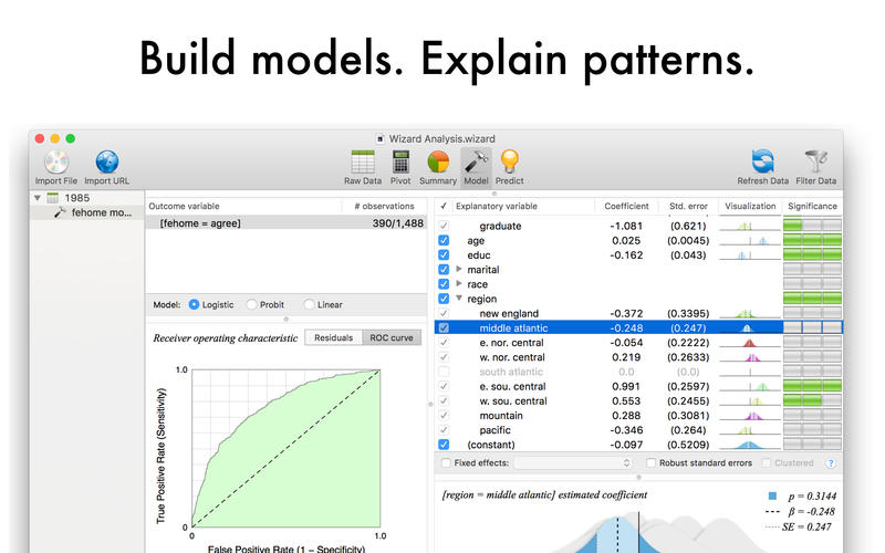 Screenshot #3 for Wizard - Statistics, Visualization, Data Analysis