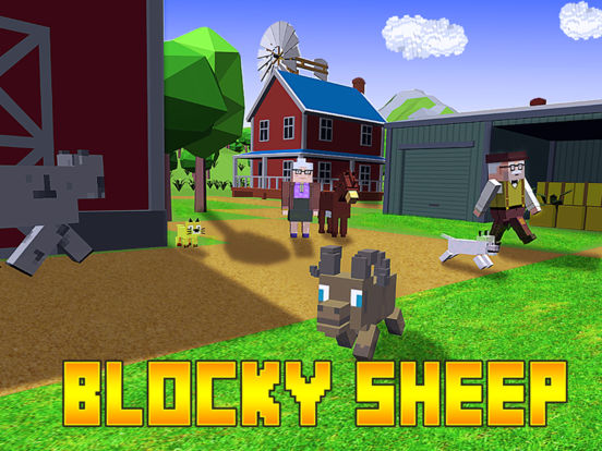Blocky Sheep Farm 3D Full screenshot 5