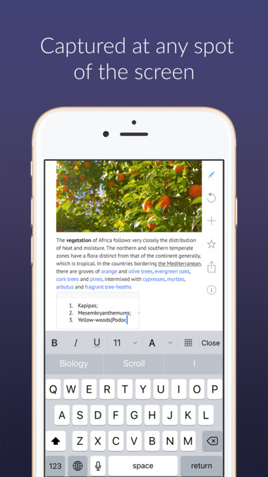 Outline – one note app to write, organize & print Screenshots