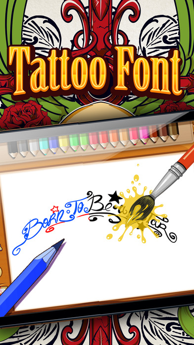 drawing the tattoo fonts artist designs pro app report on mobile action. Black Bedroom Furniture Sets. Home Design Ideas