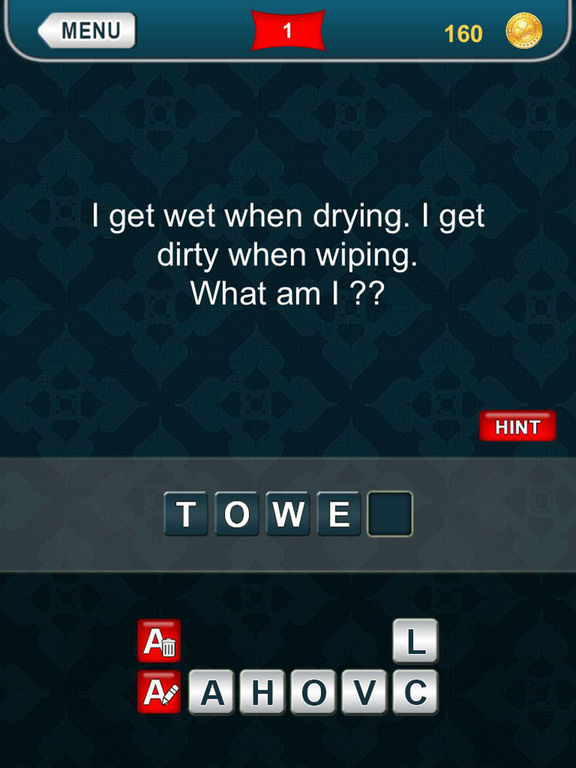 Screenshots of What am I? - riddles for iPad
